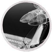 1959 Cadillac Eldorado Taillight -075bw Round Beach Towel