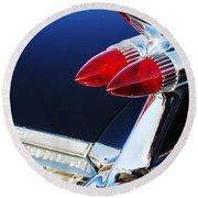 1959 Cadillac Eldorado Taillight -075c Round Beach Towel
