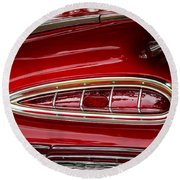 1959 Chevrolet Taillight Round Beach Towel
