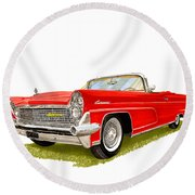 1959 Continental Convertible Round Beach Towel