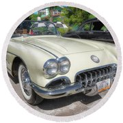 1959 Corvette Round Beach Towel