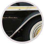 1959 Desoto Adventurer Convertible Wheel Round Beach Towel