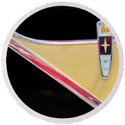 1959 Desoto Adventurer Emblem Round Beach Towel by Jill Reger