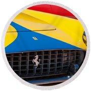 1959 Ferrari 250 Gt Coupe Grille Emblems Round Beach Towel