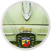 1959 Fiat 600 Derivazione 750 Abarth Hood Ornament Round Beach Towel
