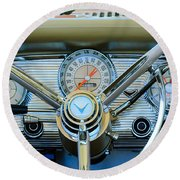 1959 Ford Thunderbird Convertible Steering Wheel Round Beach Towel