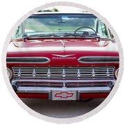 1959 Impala Hardtop Sport Coupe Round Beach Towel