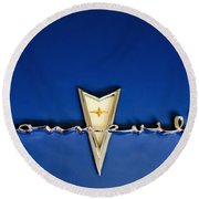 1959 Pontiac Bonneville Emblem Round Beach Towel by Jill Reger