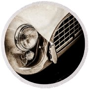 1960 Ac Aceca Grille Emblem -0058s Round Beach Towel