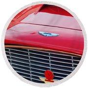 1960 Aston Martin Db4 Grille Emblem Round Beach Towel
