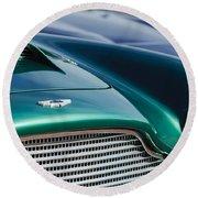 1960 Aston Martin Db4 Series II Grille - Hood Emblem Round Beach Towel by Jill Reger