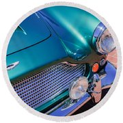 1960 Aston Martin Db4 Series II Grille Round Beach Towel by Jill Reger
