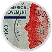 1960 Boys' Clubs Of America Movement Stamp Round Beach Towel