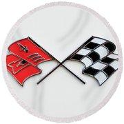 1960 Chevrolet Corvette Emblem Round Beach Towel