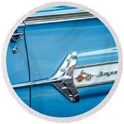 1960 Chevrolet Impala Emblem -340c Round Beach Towel