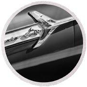1960 Chevrolet Impala Side Emblem Round Beach Towel