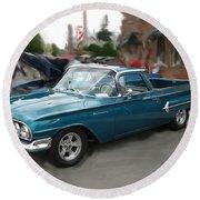 1960 Chevy El Camino Round Beach Towel