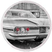 1960 Chevy Impala   7d08509 Round Beach Towel