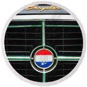 1960 Chrysler 300f Convertible Grille Emblem Round Beach Towel