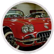 1960 Corvette Round Beach Towel