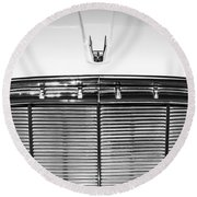 1960 Desoto Fireflite Two-door Hardtop Grille Emblem -0931bw Round Beach Towel
