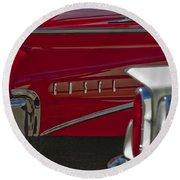 1960 Edsel Taillight Round Beach Towel by Jill Reger