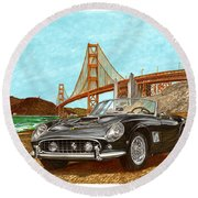 1960 Ferrari 250 California G T Round Beach Towel