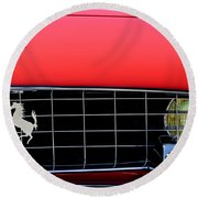 1960 Ferrari 250 Gt Cabriolet Pininfarina Series II Grille Emblem Round Beach Towel