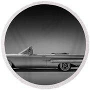 1960 Impala Convertible Coupe Round Beach Towel
