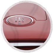 1960 Plymouth Xnr Ghia Roadster  Emblem Round Beach Towel by Jill Reger