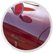 1961 Alfa Romeo Giulietta Sprint Speciale Emblem Round Beach Towel