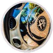 1961 Alfa Romeo Giulietta Sprint Speciale Wheel Emblem -0051c Round Beach Towel