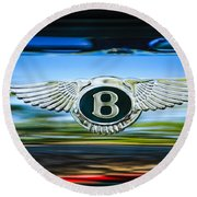 1961 Bentley S2 Continental - Flying Spur - Emblem Round Beach Towel