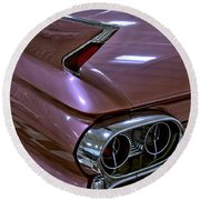 1961 Cadillac Coupe 62 Taillight Round Beach Towel