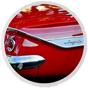 1961 Chevrolet Impala Taillight Emblem Round Beach Towel