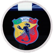 1961 Fiat-abarth 1000 Bialbero Gt Competition Coupe Emblem Round Beach Towel
