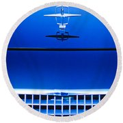 1961 Lincoln Continental Hood Ornament Round Beach Towel