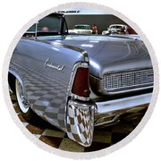 1961 Lincoln Continental Taillight Round Beach Towel