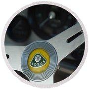 1961 Lotus Elite Series II Coupe Steering Wheel Emblem Round Beach Towel