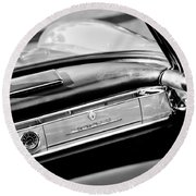 1961 Mercedes-benz 300 Sl Roadster Dashboard Emblem Round Beach Towel