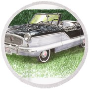 1961 Nash Metro Convertible Round Beach Towel