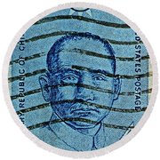 1961 Sunyat-sen China Stamp Round Beach Towel