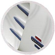 1962 Chevrolet Corvette Side Emblem Round Beach Towel
