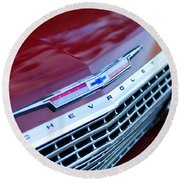 1962 Chevrolet Impala Ss Grille Round Beach Towel