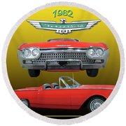 1962 Ford T-bird Sport Round Beach Towel