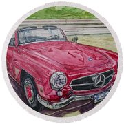 1962 Mercedes Benz 190sl Round Beach Towel