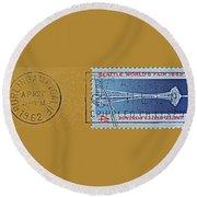 1962 Seattle World's Fair Stamp Round Beach Towel