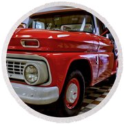 1963 Chev Pick Up Round Beach Towel