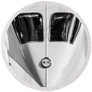 1963 Chevrolet Corvette Split Window -386bw Round Beach Towel