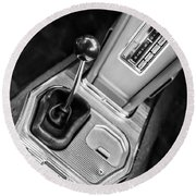 1963 Chevrolet Corvette Split Window Dash -155bw Round Beach Towel